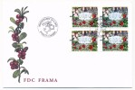ALAND - 4 étiquettes ATM (Fleurs) Sur Enveloppe FDC Mariehamm - 2004 - Aland