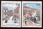 Monaco 1433 1434 1/4 De Cote Belle époque De Clérissi 1984  Neuf ** TB  MNH Sin Charnela  Cote 10.1 - Arte