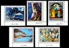 POLYNESIE 1971 - Yv. PA 55 à 59 ** TB Cdf  Cote= 105,00 EUR - Tableaux D'Artistes Polyn. (5 Val.) ..Réf.POL22645 - Luftpost