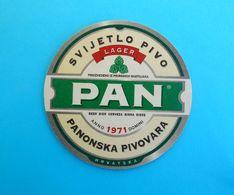 PAN BEER  ( Croatia Beer Coaster ) Beercoaster Bière Bier Cerveza Birra Mat Sous-bock Bierdeckel Sottobicchiere - Bierdeckel