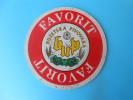 FAVORIT BEER  ( Croatia Beer Coaster ) Beercoaster Bière Bier Cerveza Birra Mat Sous-bock Bierdeckel Sottobicchiere - Beer Mats