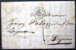 CACHET TYPE 15  --  AJACCIO  --  CORSE  --  LAC  --  1845 - Marcophilie (Lettres)