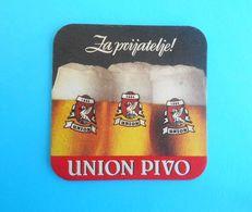 UNION BEER - Slovenia Old Beer Coaster Beercoaster Bière Bier Cerveza Birra Mat Sous-bock Bierdeckel Sottobicchiere - Beer Mats
