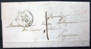 CACHET TYPE 15  --  AJACCIO  --  CORSE  --  LAC  --  1844 - Marcophilie (Lettres)
