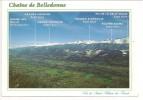 38 - Chaîne De Belledonne Et La Vallée Du Grésivaudan - Vue De Saint Hilaire Du Touvet - Ed. FLASH-CARTES - 1999 - Saint-Hilaire-du-Touvet