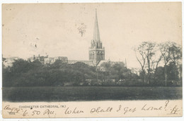 Chichester Cathedral (W.), 1902 Postcard - Chichester