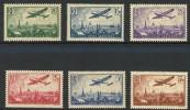 """FR Aerien YT 8 à 13 (PA) """" Avion Série Complète """" 1936 Neuf** - 1927-1959 Mint/hinged"""