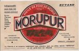 Buvard Huile De Foie De Morue Morupur Pour Bestiaux Et Volailles. Vers 1950 - Buvards, Protège-cahiers Illustrés