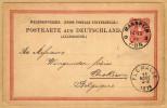 Carte Entier Postal 1878 Union Postale Universelle Mannheim à Flemalle Belgique - Stamped Stationery