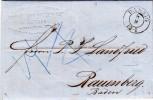 Prefilatelica, Danzica To Ravensburg, Baden. Cover Con Contenuto. 1862 - Covers & Documents