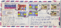 1973 REGISTERED Air Mail CEYLON COVER Stamps 3x LEOPARD, 3x WHO UNITED NATIONS Un Stamps - Sri Lanka (Ceylon) (1948-...)