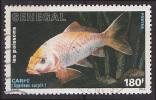 Timbre Oblitéré N° 748(Yvert) Sénégal 1988 - Poisson, Carpe - Sénégal (1960-...)