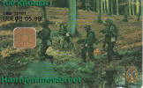 DENMARK - Army Home Guard, Danmont Telecard 100 Kr., Tirage 1250, Exp.date 05/99, Used - Armée