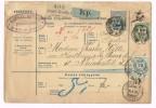 KUGLER HENRIK - BUDAPESTEN - ZURICH - NEUCHATEL - Bulletin D'expédition - 1895 - Vieux Papiers