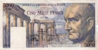 Magnifique Billet De 5000 Frs BANQUE DE L´ALGERIE ET DE LA TUNISIE 12.2.1952 - Tunisie