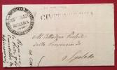 1849 PREFILATELICA REPUBBLICA ROMANA GOVERNO CIVITAVECCHIA - COMPLETA DI TESTO - Autres Collections