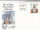 1986 ISLE OF MAN Postal Stationery AMERIPEX The MAYFLOWER Sailing Ship CAPTAIN STANDISH Pilgrim Fathers Stamps - Ships