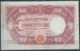 ITALY  ITALIA ITALIEN ITALIE 1943  500 LIRE B.B - [ 1] …-1946 : Koninkrijk