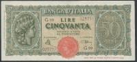 ITALY  ITALIA ITALIEN ITALIE   1944  50 LIRE F.D.S - 50 Lire