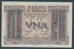 ITALY  ITALIA ITALIEN ITALIE    1939  1 LIRA  F.D.S - [ 1] …-1946 : Koninkrijk