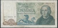 ITALY  ITALIA ITALIEN ITALIE  1971  5000 LIRE M.B - 5000 Lire