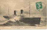 CPA-PHOTO-1910-PAQUEBOT-LA PROVENCE-Cie SGTMV-a Travers Atlantique-TBE-RARE - Paquebots