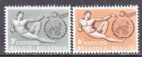 BELGIUM   585-6     *   HUMAN  RIGHTS - Unused Stamps