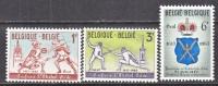 BELGIUM   588-90     *   SPORTS  FENCING - Belgium