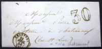 CACHET TYPE 15 + T15A CHATEAUNEUF EN THYMERAIS  --  CHARTRES  --  EURE ET LOIR  --  LAC  --  1856 - Marcophilie (Lettres)