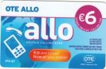 GREECE - Allo Card, OTE Prepaid Card 6 Euro, Tirage 15000, 11/14, Used - Greece