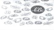 LE BLE BOULANGERIE CONFITERIA - SUCURSAL CABALLITO BUENOS AIRES L'ARGENTINE PAN LACTAL BAGUETINES PAIN AU CHOCOLAT - Serviettes Publicitaires