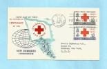 NOUVELLES HEBRIDES (New Hebrides) - Premier Jour FDC - 1963 - YT 201-202 - Centenaire Croix-Rouge, 100th Ann. Red Cross - FDC