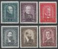 AUSTRIA/OOSTENRIJK  1932  Mi. 545/550, Scott B.100/105  MNH - 1918-1945 1. Republik