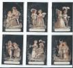 6 Chromos à Fond Noir/Couples Costumés / Portes-noms De Table De Banquet ?/ Non Personnalisés/ /Vers 1885-1890    IMA12 - Autres