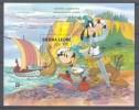 Nap871 WALT DISNEY SCHIP GOOFY VIKINGS SHIP BOAT CAPEX EXPO SIERRA LEONE 1987 PF/MNH - Disney