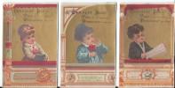 Chocolat/ 3 Chromos à Fond Doré/Loges De Théatre/Spectateurs/Repesse Crepel/Arras /Ibled/Mondicourt/Vers1885-1890  IMA13 - Ibled