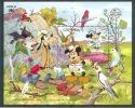 MzrA028 WALT DISNEY MICKEY GOOFY MINNIE PAPEGAAI VOGELS KIKKER SYDPEX BIRDS PARROT LORIKEET FROG GRENADA 1988 PF/MNH - Disney
