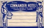 17 HOTEL LABELS USA MASSASUCHETS Boston MARYLAND Baltimore MAINE Pub Poland Spring LOUISANA N Orleans KENTUCKY  KANSAS - Hotel Labels