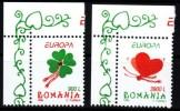 Rumänien 1998 MiNr. 5297/ 5298  **/ Mnh  EUROPA: Nationale Feste Und Feiertage   Linke Obere Ecke - 1948-.... Republiken