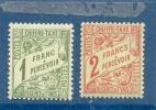1901 TUNISIE Y & T N° 33 - 34 ( ** ) 1f - 2f - Gomme Intacte - Tunisia (1888-1955)