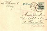 Cachets Belges Durant Occupation Ciney Vers Wellin - German Occupation