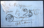 CACHET TYPE 15  --  DIJON  --   COTE D'OR  --  LAC  --  1850 - 1849-1876: Periodo Clásico