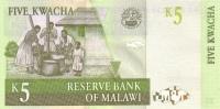 MALAWI P. 36a 5 K 1997 UNC - Malawi