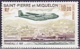 Timbre Aérien Neuf* Charnière - Transall C 160 - N° 57 (Yvert) - Saint-Pierre Et Miquelon 1973 - Luftpost
