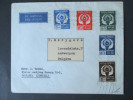 Indonesien 1951/52 Nr. 89 - 93 Satzbrief! Lustpost / Airmail. Nationales Sportfest Jakarta. Nach Belgien / Antwerpen - Indonesien