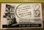 PUB PUBLICITE 1950/1960  BONBON LA PIE QUI CHANTE LA MENTHE CLAIRE PORTE CLEFS WATTIGNIES - Collections