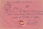 """R-Brief 1935 Von """"VILLAROSA SICILIA / ENNA"""" Nach """"ENNA / ARRIVI E PARTENZE"""" - 1900-44 Vittorio Emanuele III"""