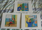 LOT DE 3 EX-LIBRIS TINTIN ~ HERGE MOULINSART 2011 / LES BIJOUX DE LA CASTAFIORE - Ex-libris