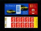 GREAT BRITAIN - 10x1st CLASS   PEUGEOT  BOOKLET MINT NH  SG HD46 - Libretti