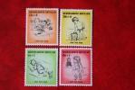 Kinderzegels; NVPH Nr 318-321; 1961 MNH / POSTFRIS NEDERLANDSE ANTILLEN / NIEDERL. ANTILLEN / NETHERLANDS ANTILLEN - Curaçao, Nederlandse Antillen, Aruba